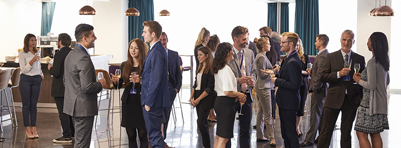 Young business people at networking event