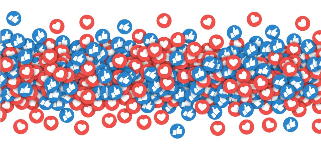 illustration of like and dislike icons